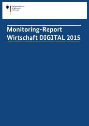 Monitoring-Report Wirtschaft DIGITAL 2015