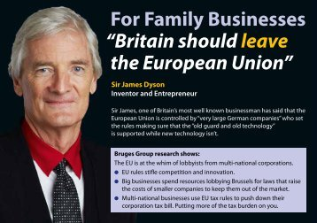 "For Family Businesses ""Britain should leave the European Union"""
