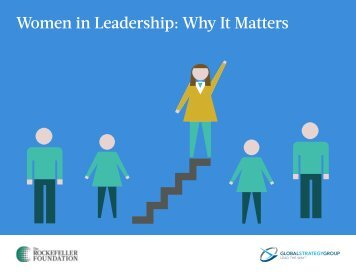 Women in Leadership Why It Matters