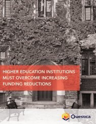 HIGHER EDUCATION INSTITUTIONS MUST OVERCOME INCREASING FUNDING REDUCTIONS
