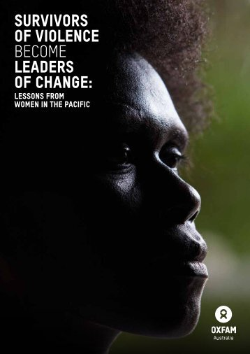 OF VIOLENCE BECOME LEADERS OF CHANGE
