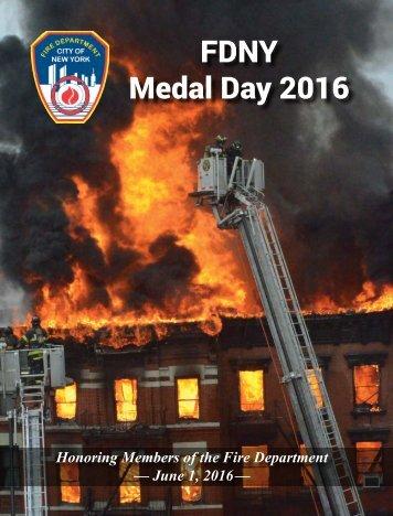 FDNY Medal Day 2016