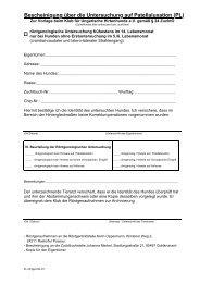 Bescheinigung über die Untersuchung auf Patellaluxation (PL)