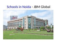 Schools in Noida - JBM Global