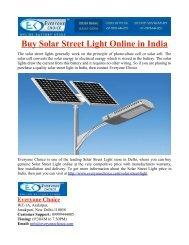 Buy Solar Street Light Online in India