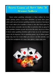 Beste Casino på Nett Søke Til Kresen Spillere