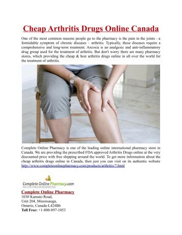 Cheap Arthritis Drugs Online in Canada