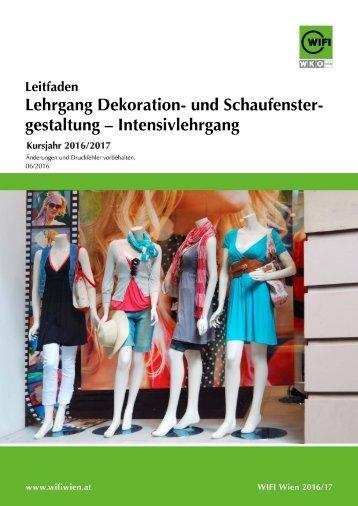 Leitfaden: Lehrgang Dekoration- und Schaufenstergestaltung – Intensivlehrgang