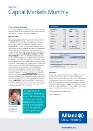 Capital Markets Monthly