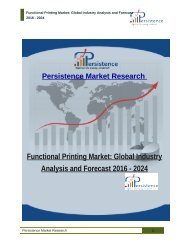 Functional Printing Market: Global Industry Analysis and Forecast 2016 - 2024