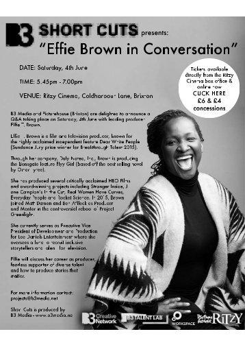 Effie Brown poster