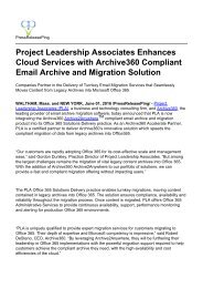 Project Leadership Associates Enhances Cloud Services with Archive360 Compliant Email Archive and Migration Solution