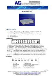 4-Kanal-Videoumschalter 12V mit automatischem Kanalwechsel