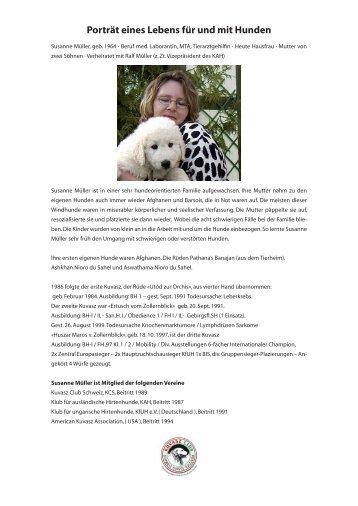 Porträt eines Lebens für und mit Hunden - Kuvasz