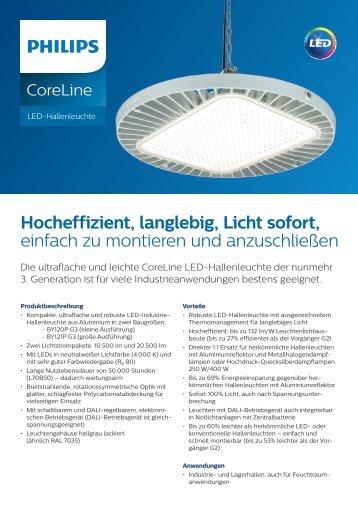 Philips CoreLine LED Hallenleuchte G3 Datenblatt Mai_2016