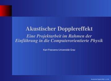 Akustischer Dopplereffekt - KFU