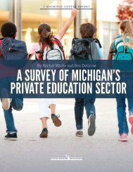 A SURVEY OF MICHIGAN'S PRIVATE EDUCATION SECTOR