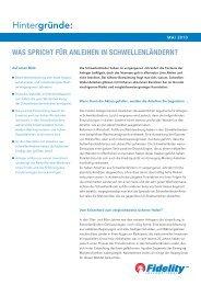 Anleihen aus Schwellenländern - Fidelity Investments