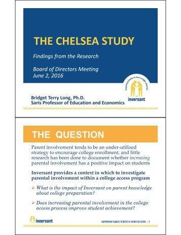 THE CHELSEA STUDY