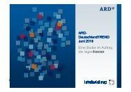 DeutschlandTREND Juni 2016 Eine Studie im Auftrag der tagesthemen themen
