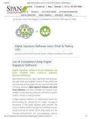 Purchase Targeted Digital Signature Customer Lists from Span Global Services