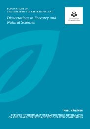 Dissertations in Forestry and Natural Sciences