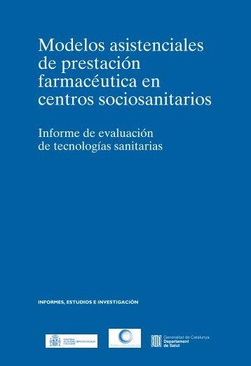 Modelos asistenciales de prestación farmacéutica en centros sociosanitarios