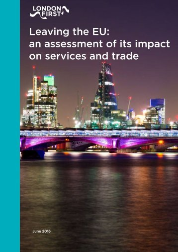 Leaving the EU an assessment of its impact on services and trade