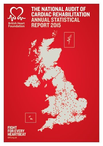 THE NATIONAL AUDIT OF CARDIAC REHABILITATION ANNUAL STATISTICAL REPORT 2015