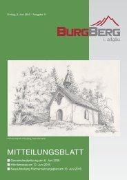 Burgberger Mitteilungsblatt 11/2016