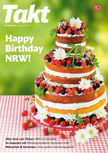 Takt NRW: Happy Birthday NRW!