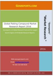 Global Potting Compound Market Research Report 2016