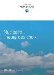 Nucléaire  l'heure des choix