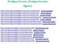 Zirakpur Escorts, Zirakpur Escorts Agency