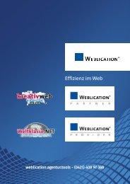 Weblication Profi-CMS - kreativ web marketing - Partner