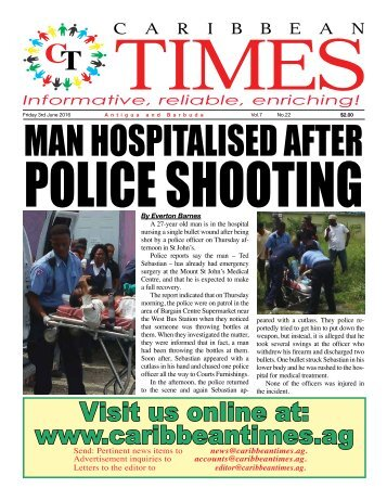 Caribbean Times 22nd Issue - Friday 3rd June 2016