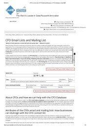 ophthalmologist mailing list