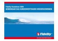 Was gibt Vertrauen? - Fidelity Investments