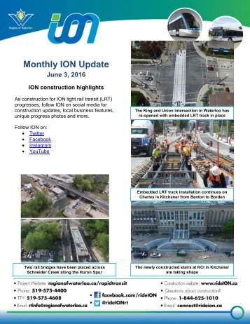 Monthly ION Update