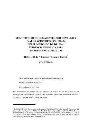 SUBJETIVIDAD DE LOS AJUSTES POR DEVENGO Y ... - Ivie