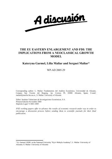 THE EU EASTERN ENLARGEMENT AND FDI: THE ... - ResearchGate