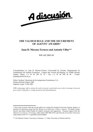 THE TALMUD RULE AND THE SECUREMENT OF ... - ResearchGate
