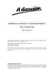 MERGERS IN A PARTIALLY CARTELIZED MARKET* Marc ... - Ivie