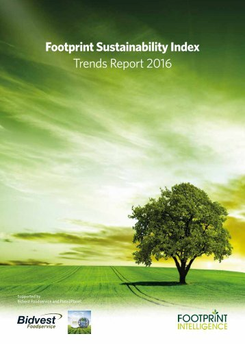 Footprint Sustainability Index Trends Report 2016