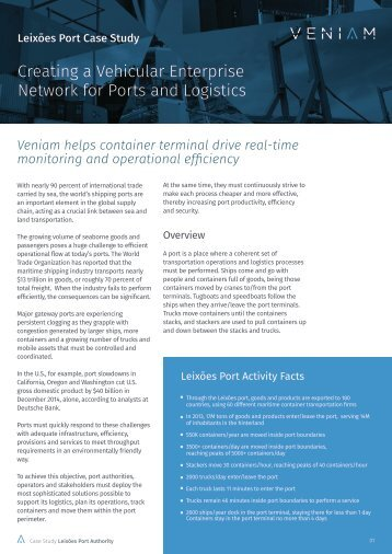 Creating a Vehicular Enterprise Network for Ports and Logistics
