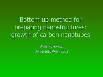growth of carbon nanotubes - KFU