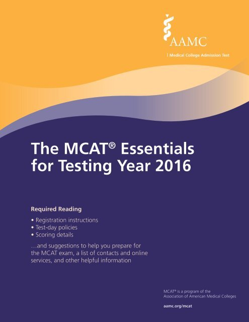 The MCAT Essentials for Testing Year 2016