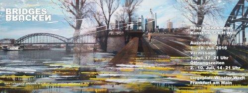 Bridges_Brücken, Kunst von Rosa Lachenmeier im Schiff Willi