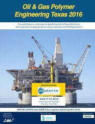 Oil & Gas Polymer Engineering Texas 2016