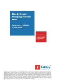 emerging markets fund  - Fidelity Investments
